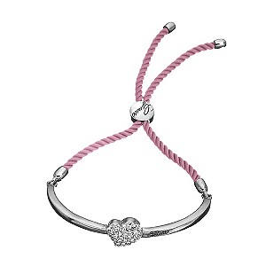 Guess Pink Cord & Crystal Heart Bracelet - Product number 9383573