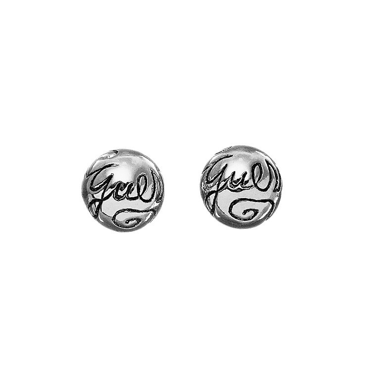 Guess Silver Logo Ball Stud Earrings - Product number 9383719