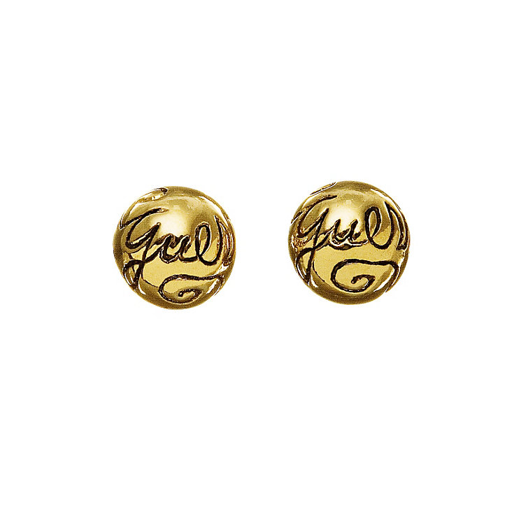 Guess Gold Plated Logo Ball Stud Earrings - Product number 9383727