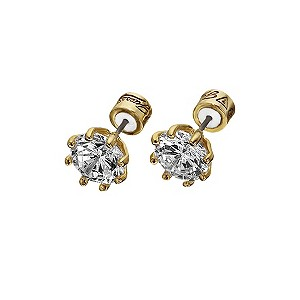 Guess Gold Plated Cubic Zirconia Stud Earrings - Product number 9383751