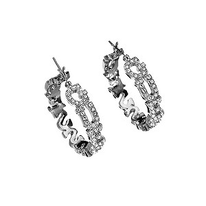 Guess Pave Set Logo Hoop Earrings - Product number 9383794