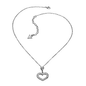 Guess Crystal Open Heart Pendant - Product number 9384286