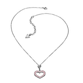 Guess Pink Crystal Heart Necklace - Product number 9384294