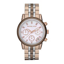 Michael Kors Tri colour ladies' bracelet watch - Product number 9384642