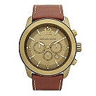 Michael Kors men's gold-plated brown dial chronograph watch - Product number 9384723