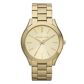 Michael Kors ladies' gold-plated bracelet watch - Product number 9384774