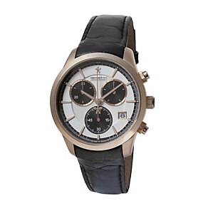 Dreyfuss & Co men's rose gold-plated & leather strap watch - Product number 9388621