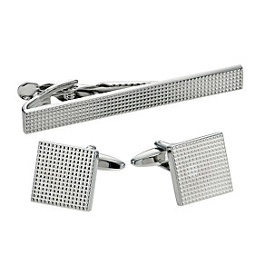 Men's Textured Tie Clip & Cufflinks Set - Product number 9389741
