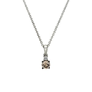 Le Vian 14ct white gold & diamond solitaire pendant - Product number 9391983