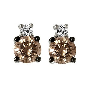 Le Vian 14ct white gold chocolate & white diamond earrings - Product number 9391991