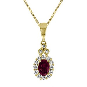 Le Vian 14ct yellow gold ruby & diamond pendant - Product number 9392017