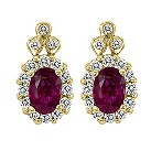 Le Vian 14ct yellow gold ruby & diamond earrings - Product number 9392084