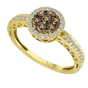 Le Vian 14ct gold 1/2 carat chocolate & white diamond ring - Product number 9392106