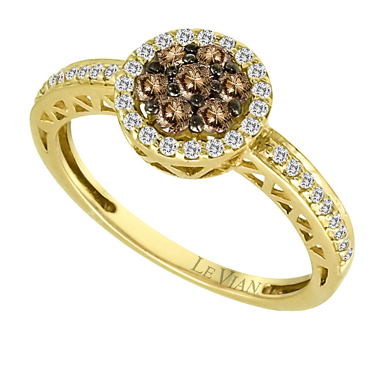 Le Vian 14ct gold 0.50ct Chocolate & Vanilla Diamond ring - Product number 9392106