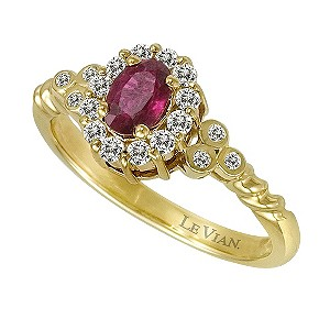 Le Vian 14ct yellow gold ruby & diamond ring - Product number 9392505