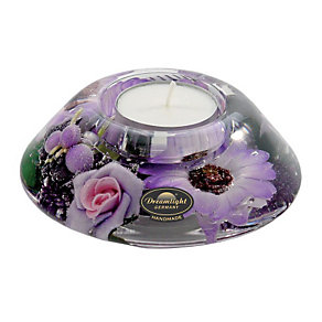 Special Memories Purple Flower Candle Holder - Product number 9406387