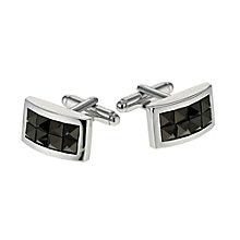 Simon Carter men's black crystal cufflinks - Product number 9407804