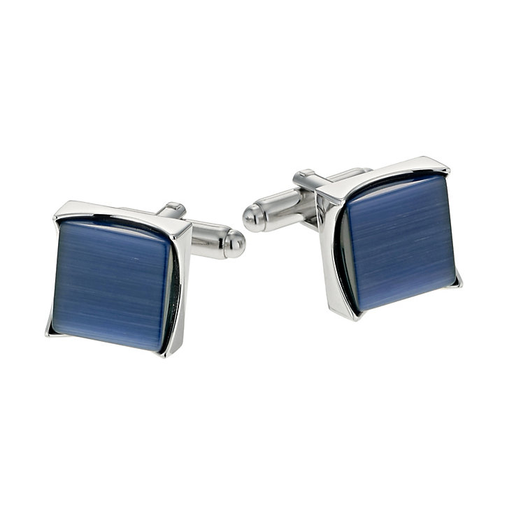 Simon Carter square navy cufflinks - Product number 9407812