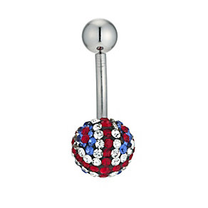 Surgical Steel Union Jack Body Bar - Product number 9408509