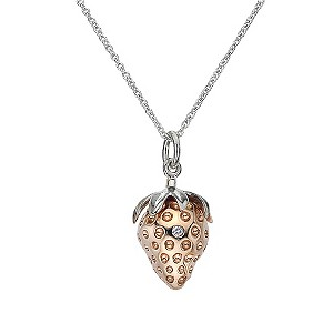 Hot Diamonds silver & rose gold-plated strawberry pendant - Product number 9411232
