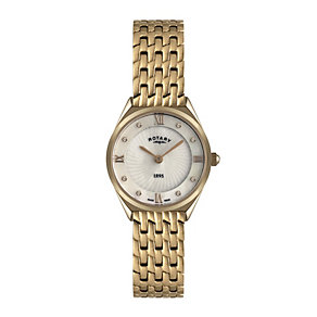 Rotary ladies' rose gold-plated bracelet watch - Product number 9411933