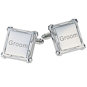 Men's Square Heritage Groom Cufflinks - Product number 9412174