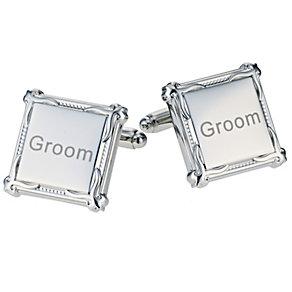 Men's Square Heritage Groom Cufflinks - Product number 9412174