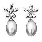 Hot Diamonds silver flower drop pearl & diamond earrings - Product number 9413189