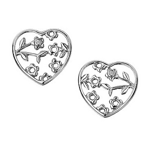 Hot Diamonds small silver & diamond open heart earrings - Product number 9413235