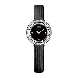 Hugo Boss ladies' black strap stone set watch - Product number 9413286