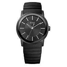 Hugo Boss men's black rubber strap watch - Product number 9413464