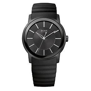 Hugo Boss men's black rubber strap watch - Product number 9413464