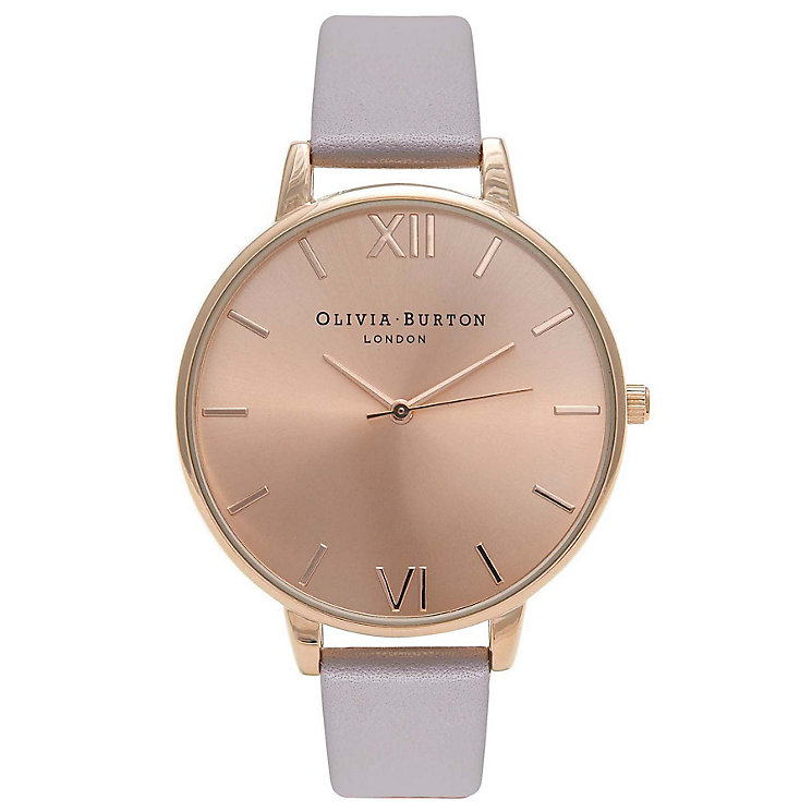 Olivia Burton Big Dial Ladies' Rose Gold Plated Strap Watch - Product number 9417982