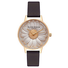 Olivia Burton 3D Daisy Ladies Yellow Gold Plated Strap Watch - Product number 9418016