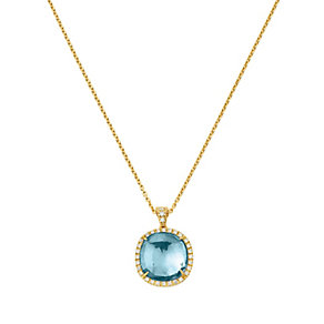 Marco Bicego 18ct yellow gold blue topaz pendant - Product number 9420770