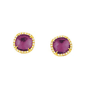 Marco Bicego 18ct yellow gold amethyst stud earrings - Product number 9420789