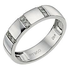 Platinum diamond wedding band - Product number 9427015