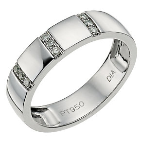 Platinum diamond wedding band - Product number 9427015