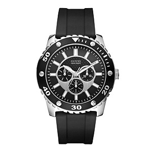 Guess Men's Black Strap Chronograph Watch - Product number 9429565