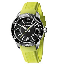 Wenger Roadster Men's Green Silicone Strap Watch RRP £155 - Product number 9432264