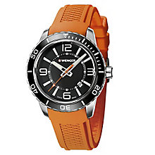 Wenger Roadster Men's Orange Silicone Strap Watch RRP £155 - Product number 9432272