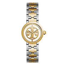 Tory Burch Reva Ladies' Two Colour Yellow Gold Tone Watch - Product number 9433244