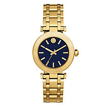 Tory Burch Classic T Ladies' Yellow Gold Tone Navy Watch - Product number 9433511