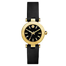Tory Burch Classic T Ladies' Yellow Gold Tone Black Watch - Product number 9433570