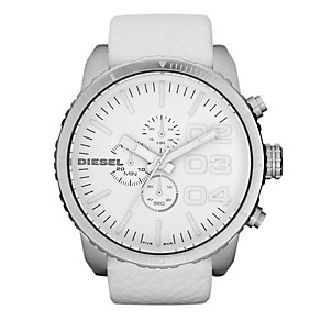 Diesel Men's White Strap Watch - Product number 9435301