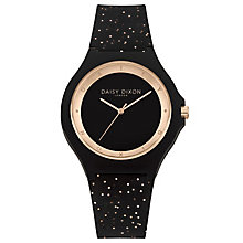 Daisy Dixon Daisy Glitter Ladies' Black Silicone Strap Watch - Product number 9436685