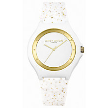 Daisy Dixon Daisy Glitter Ladies' White Silicone Strap Watch - Product number 9436693