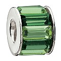 Chamilia Silver Green Baguette Stone Set Bead - Product number 9436715