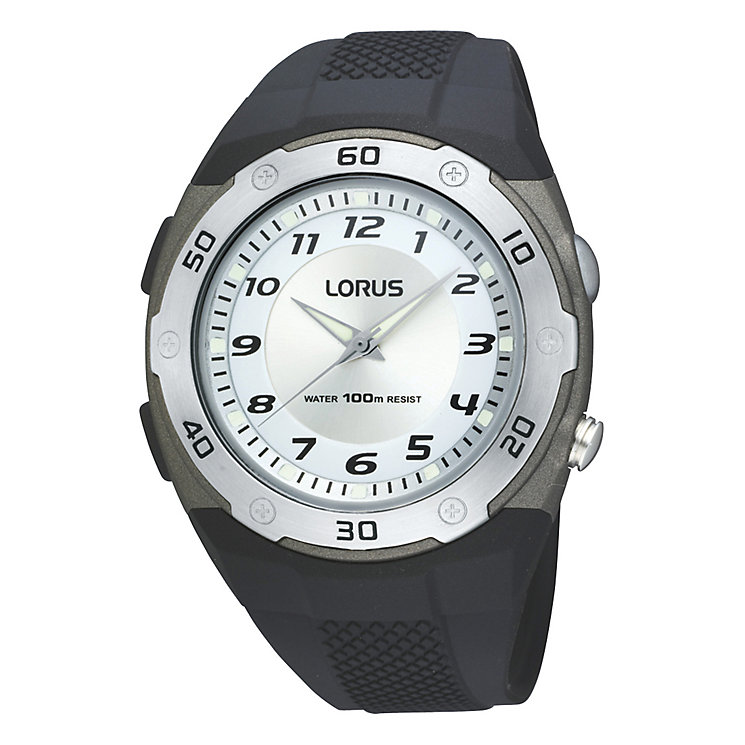 Lorus Sports Men's Black Rubber Strap Watch - Product number 9437681
