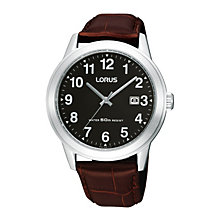 Lorus Men's Brown Mock Croc Strap Watch - Product number 9438025